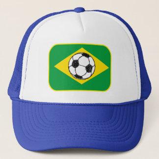 Boné Esboço do futebol da bandeira | de Brasil