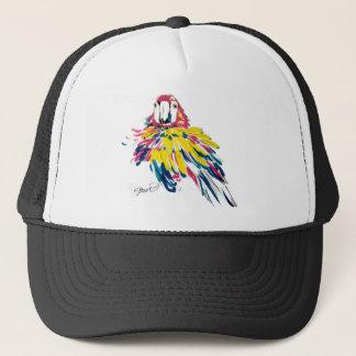 Boné Escarlate do chapéu de seda do camionista da
