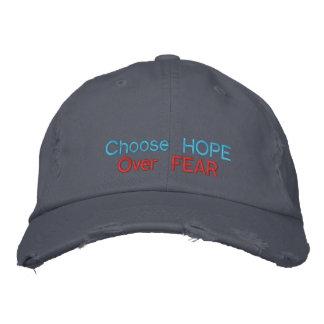 Boné Escolha a esperança sobre o medo