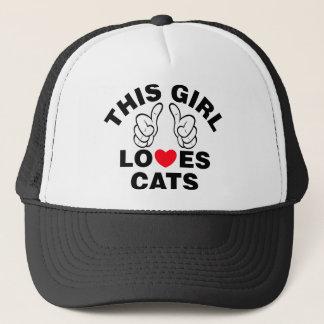 Boné Esta menina ama gatos