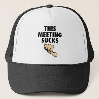 Boné Esta reunião suga! Polegares para baixo!