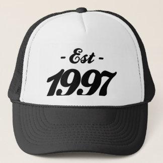 Boné estabelecido 1997 - aniversário