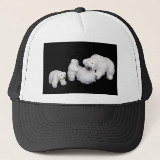 Boné Estatuetas da família dos ursos polares que jogam