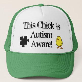 Boné Este pintinho é chapéu ciente do autismo