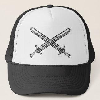 Boné Estilo retro cruzado das espadas