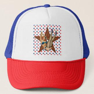 Boné Estrela americana do pinup