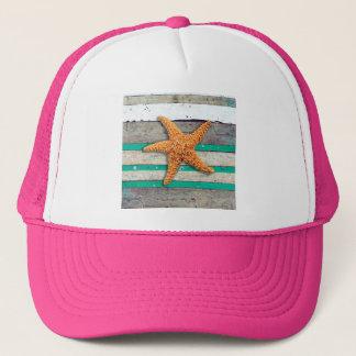 Boné Estrela do mar e praia resistida das pranchas