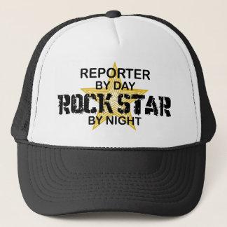 Boné Estrela do rock do repórter em a noite