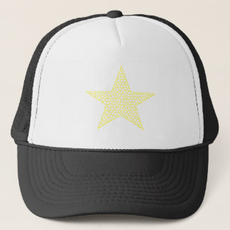 Boné Estrela - teste padrão geométrico - amarelo e