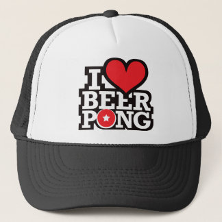 Boné Eu amo a cerveja Pong v2 - vermelho