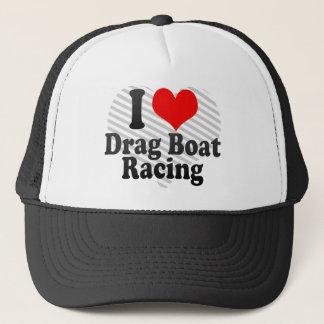 Boné Eu amo a competência de barco do arrasto