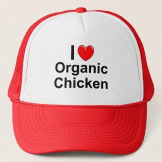 Boné Eu amo a galinha orgânica do coração
