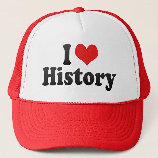 Boné Eu amo a história  b9f58291f48f4