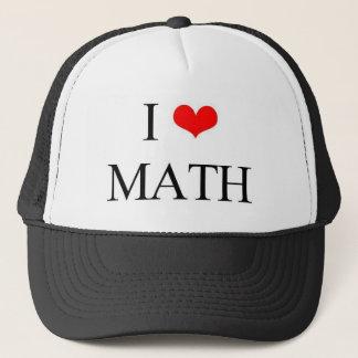 Boné Eu amo a matemática