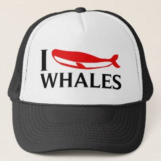 Boné Eu amo baleias