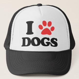 Boné Eu amo cães