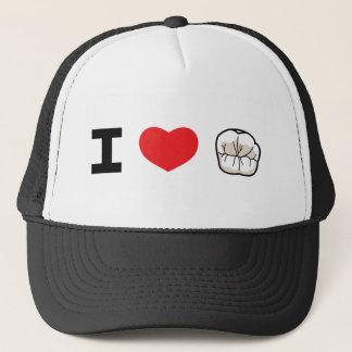 """Boné """"Eu amo chapéu do camionista dos dentes"""""""