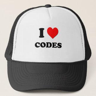 Boné Eu amo códigos