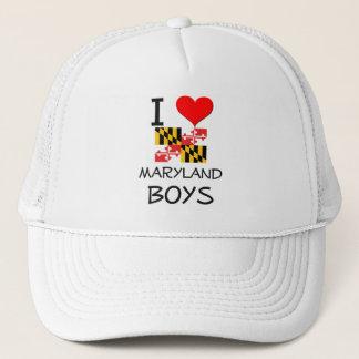 Boné Eu amo meninos de Maryland