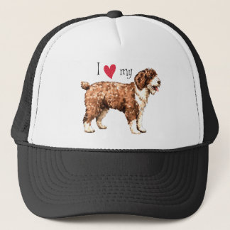Boné Eu amo meu cão de água espanhol