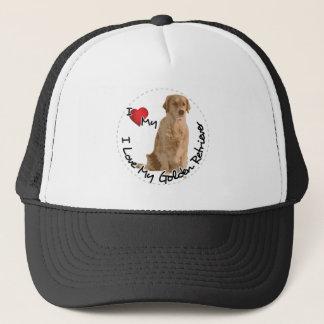 Boné Eu amo meu cão do golden retriever