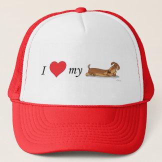 Boné Eu amo meu cão do wiener