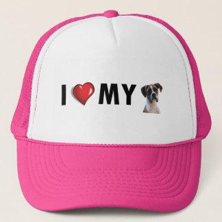 Boné Eu amo meu chapéu do pugilista - chapéu do cão do