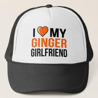 Boné Eu amo meu namorada do gengibre