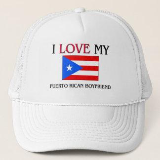 Boné Eu amo meu namorado porto-riquenho