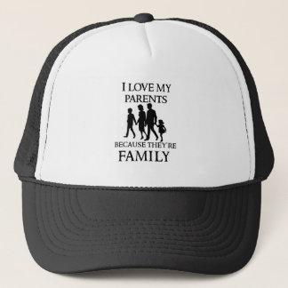 Boné Eu amo meus pais porque são minha família