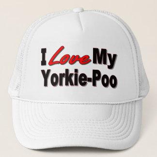 Boné Eu amo meus presentes e roupa do cão de Yorkie-Poo