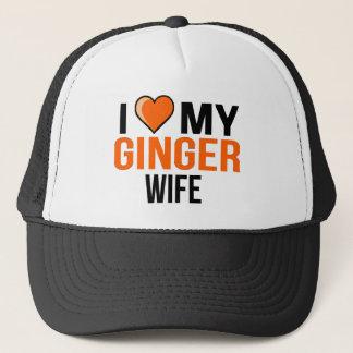 Boné Eu amo minha esposa do gengibre