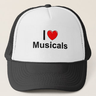 Boné Eu amo Musicals do coração