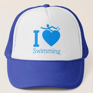 Boné Eu amo nadar o chapéu