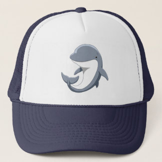 Boné Eu amo o Bottlenose bonito dos golfinhos