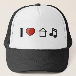 Boné Eu amo o chapéu da música da casa