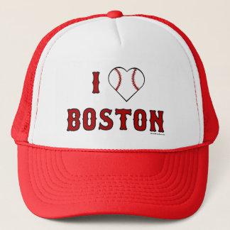 Boné Eu amo o chapéu de Boston