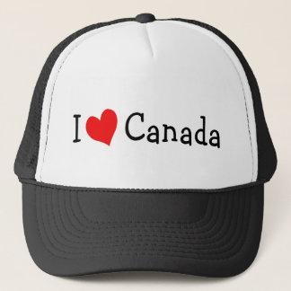 Boné Eu amo o chapéu de Canadá