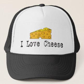 Boné Eu amo o chapéu do queijo