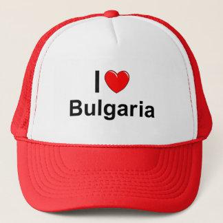Boné Eu amo o coração Bulgária
