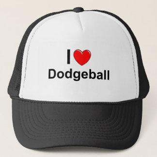 Boné Eu amo o coração Dodgeball
