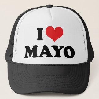 Boné Eu amo o coração Mayo - amante da maionese