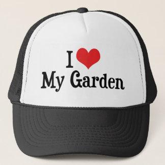 Boné Eu amo o coração meu jardim - jardim vegetal da