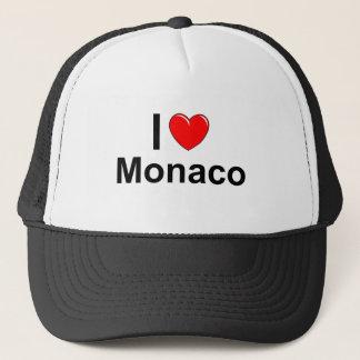 Boné Eu amo o coração Monaco