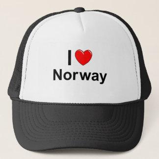 Boné Eu amo o coração Noruega