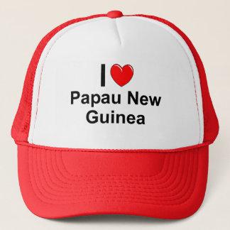 Boné Eu amo o coração Papau Nova Guiné