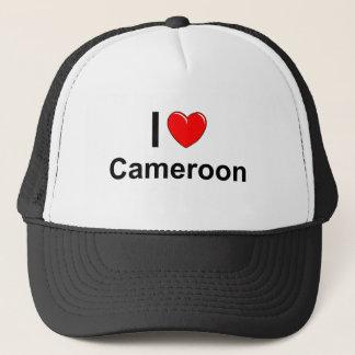 Boné Eu amo o coração República dos Camarões