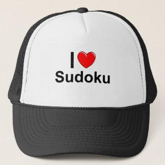 Boné Eu amo o coração Sudoku