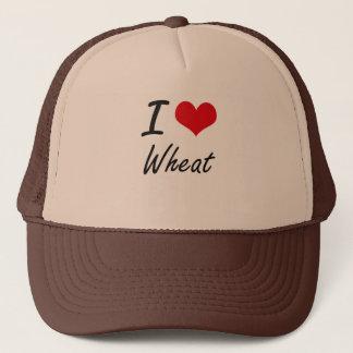Boné Eu amo o design artístico do trigo