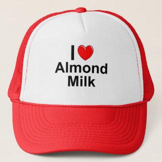 Boné Eu amo o leite da amêndoa do coração